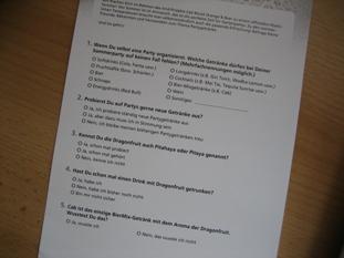 Fragebogen für die knallharte Jury
