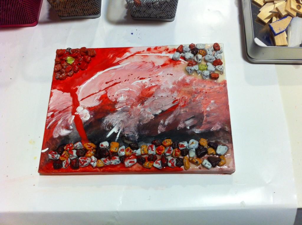 """Dieses Bild zeigt die """"Berlin Chocolate Wall"""" meiner charmanten Begleitung."""