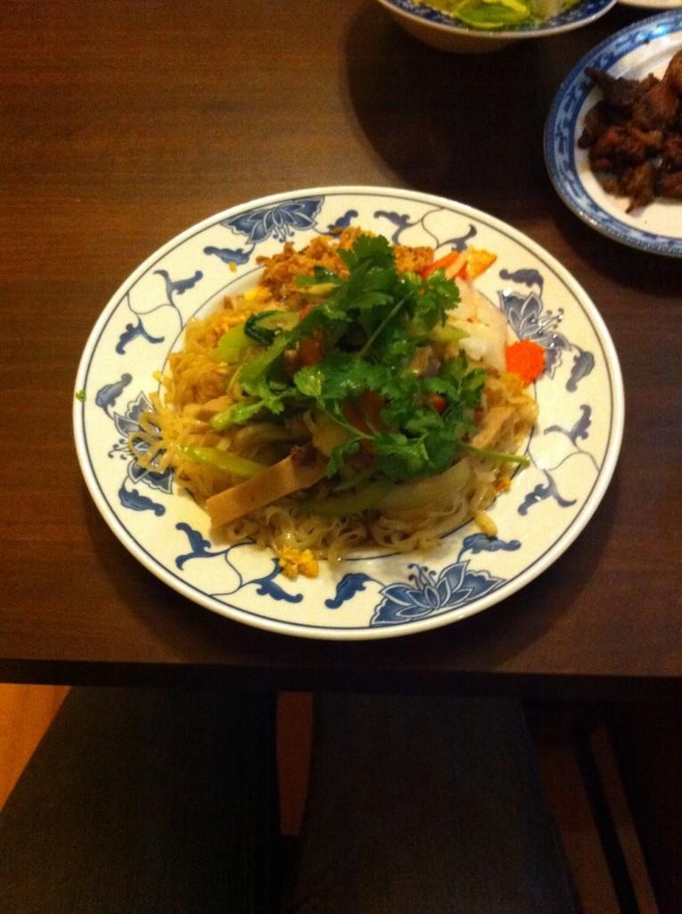 Das Essen, das ich mir im vietnamesischen Restaurant im Don Xuang Center bestellt habe...