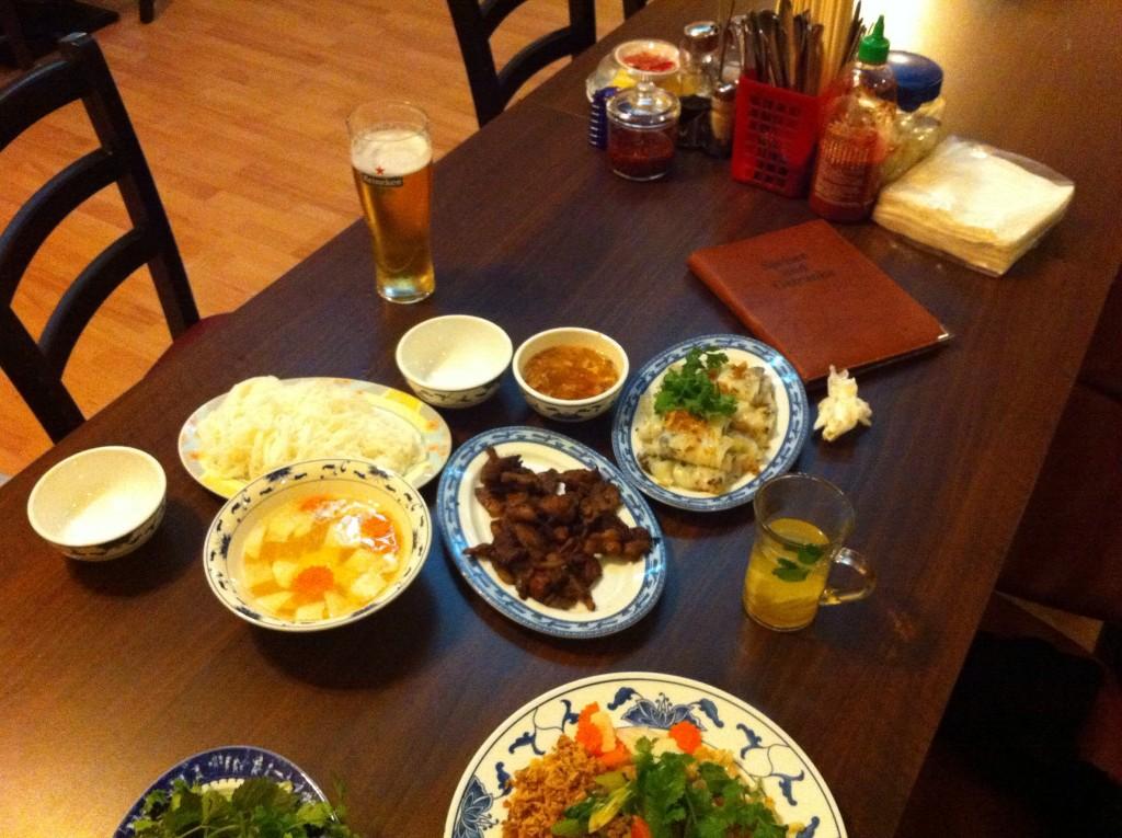 Das Essen, das sich der Küchenphilosoph bestellt hatte...