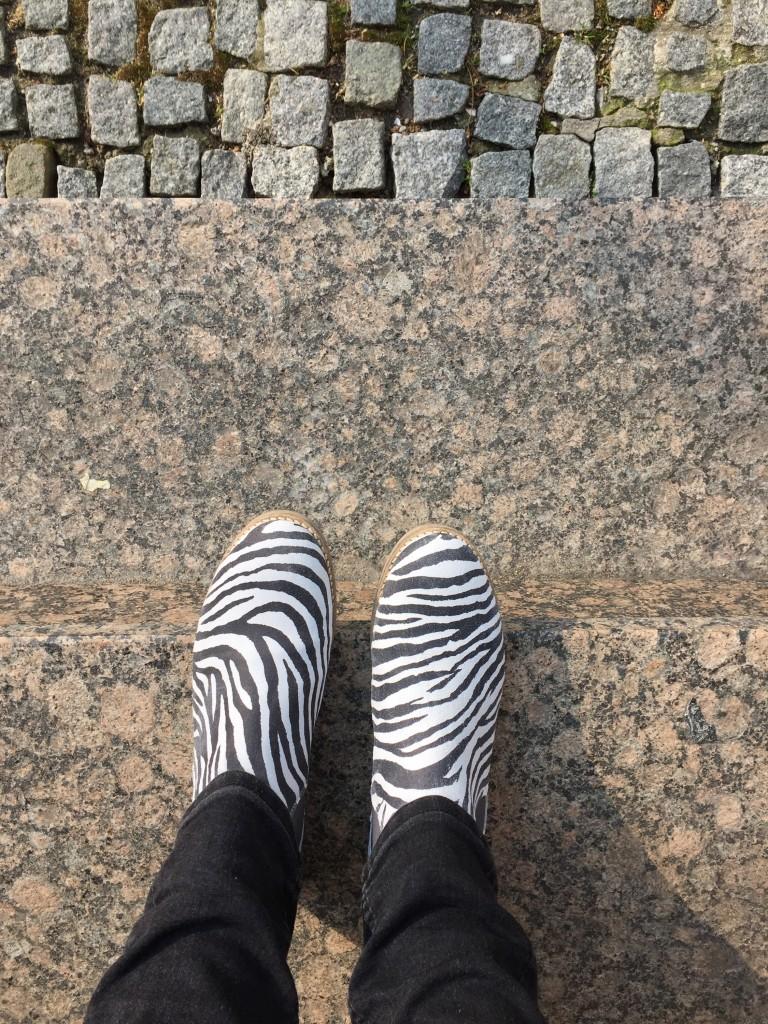 Chelsea Boots im Zebra-Look