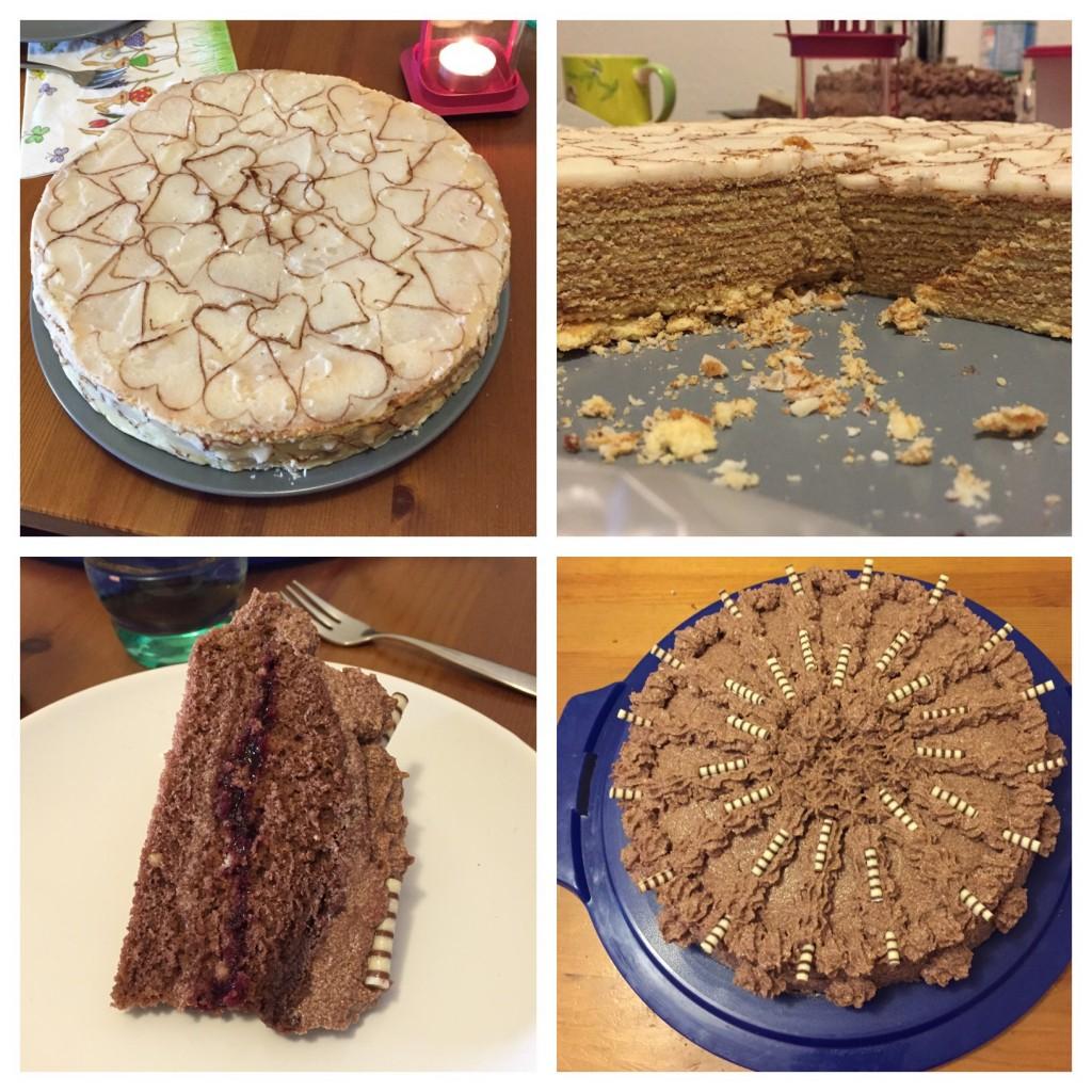 Baumkuchen und Schoko-Buttercreme-Torte